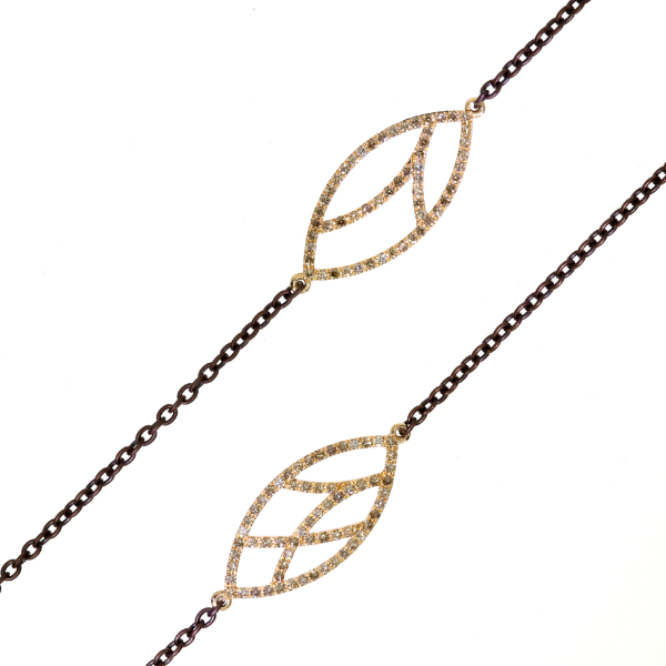 Collier Fairtrade Roségold champagner Brillanten (251225)